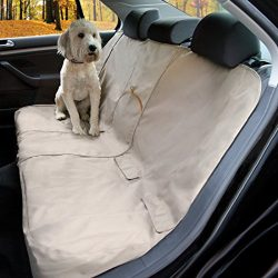 Kurgo Heather Nutmeg Tan Pet Car Seat Cover – Stain Resistant – Waterproof – Universal Fit