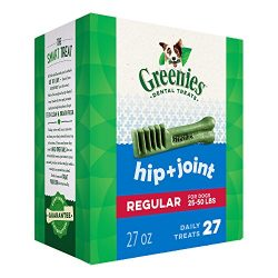 Greenies Hip and Joint Regular Size Dental Dog Chews – 27 Ounces 27 Treats