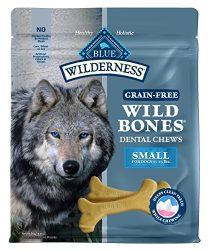 Blue Buffalo Wilderness Wild Bones Small Dental Chews Grain-Free Dog Treats, 27-oz Bag