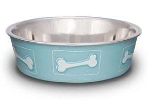 Loving Pets Coastal Bella Bowl for Dogs, Large, Blue