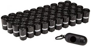 AmazonBasics Dog Waste Bags with Dispenser and Leash Clip – 600-Count