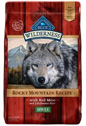 Blue Buffalo Wilderness Rocky Mountain Recipe High Protein Grain Free, Natural Adult Dry Dog Food, Red Meat 10-lb