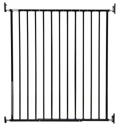 Storkcraft Easy Walk-Thru Tall Metal Safety Gate, Black Adjustable Baby Safety Gate For Doorways and Stairs, Great for Children and Pets