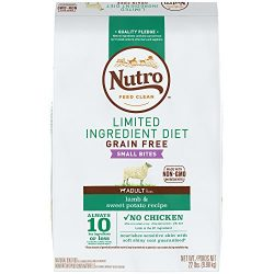 Nutro Limited Ingredient Diet Small Bites Adult Dry Dog Food Lamb & Sweet Potato, 22 lb. Bag