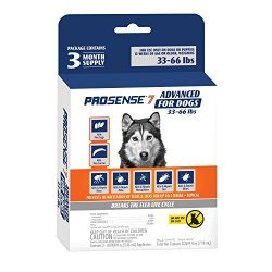ProSense 7 Flea & Tick Prevention Control Dogs 33-66 lb – 3 Month Supply