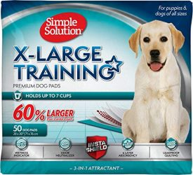 Simple Solution Training Puppy Pads | Extra Large, 6 Layer Dog Pee Pads, Absorbs Up to 7 Cups of Liquid | 28×30 Inches, 200 Count