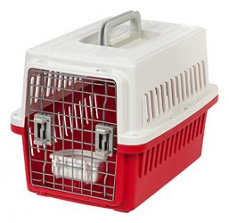 IRIS Small Deluxe Pet Travel Carrier, Red