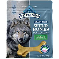 Blue Buffalo Wilderness Wild Bones Large Dental Chews Grain-Free Dog Treats, 27-Oz Bag