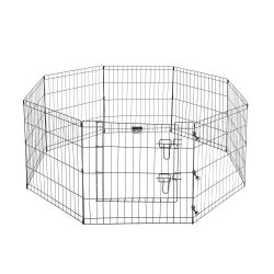 2205 Pet Trex Premium Quality 24″ Exercise Playpen for Dogs Eight 24″ x 24″ High Panels with Gate