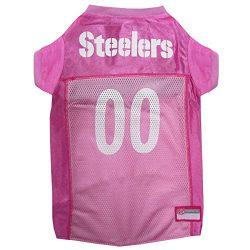 NFL PIT-4019-XS Pittsburgh Steelers Pet Pink Jersey, X-Small