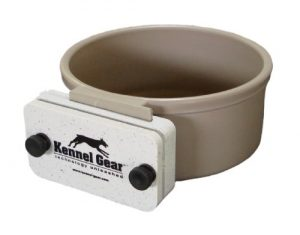 Kennel-Gear 20 oz Plastic Dog or Cat Bowl Kit, Grey