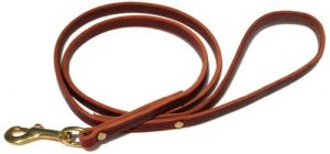 Signature K9 Standard Leather Leash, 4-Feet x 1/2-Inch, Burgundy
