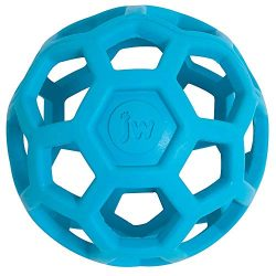 JW Hol-ee Roller Original Treat Dispensing Dog Ball – Hard Natural Rubber – Assorted Colors