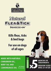 NAVTU Natural Chemistry 11261 Flea & Tick Squeeze On for Medium Dogs, 25-50 lb