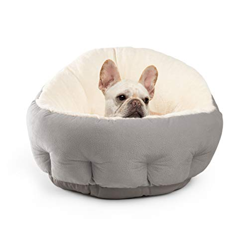 Best Friends by Sheri OrthoComfort JUMBO / Large Deep Dish Cuddler – Self-Warming Cat and Dog Bed Cushion for Joint-Relief and Improved Sleep, Gray, Ilan