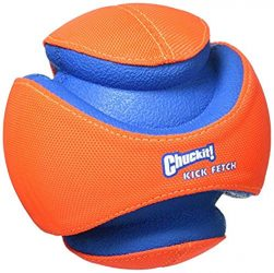 Chuckit! Kick Fetch Ball Dog Toy Interactive Play 2 Sizes Orange/Blue