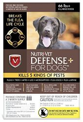 Nutri-Vet Defense Plus Dog Flea & Tick Control, Extra Large Dogs Over 66 lbs