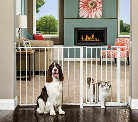 Carlson Maxi Walk Through Pet Gate, 50-59 Inches Wide, Hardware Mounted