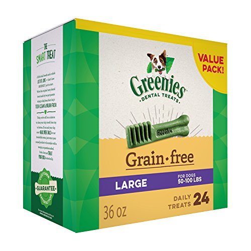 Greenies Grain Free Large Dental Dog Treats, 36 Oz. Pack (24 Treats), Makes A Great Holiday Gift For Dogs