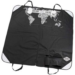 D&D En Route Car Seat Cover World, 150 by 145cm, Piano-Black