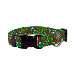 Christmas Stockings Dog Collar – Size Large 18″ to 28″ Long – Made In The USA