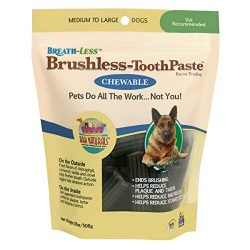 Ark Naturals Breath-Less Chewable Brushless-ToothPaste Medium To Large 18 Ounce