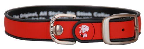 All Style, No Stink Dog Collar,Red Gray, Large 17″ x 21.5″