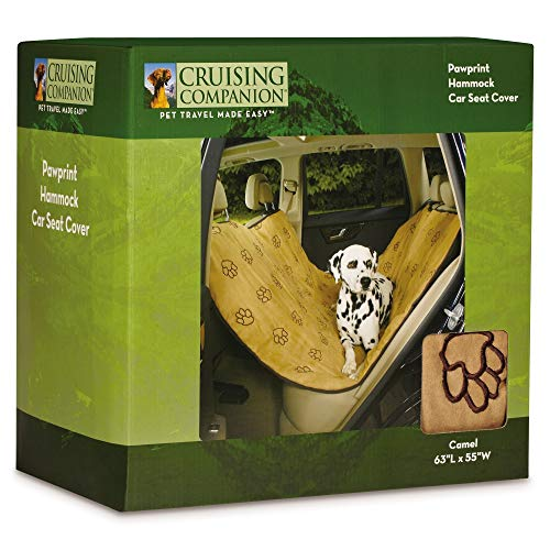 Cruising Companion Hammock Car Seat Covers — Cushioned Car Seat Covers for Dogs, Camel