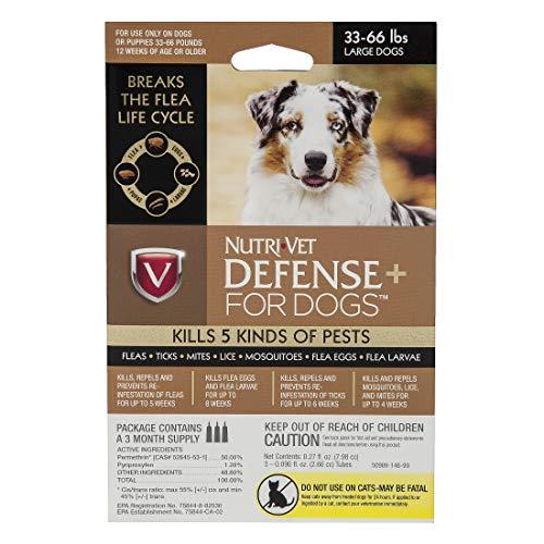Nutri-Vet Defense Plus Dog Flea & Tick Control, Large Dogs 33-66 lb