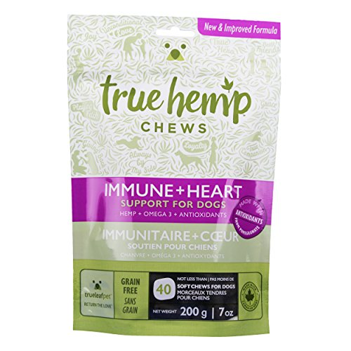true leaf Pet 40 Count Hemp Chews Health Support for Dogs, 7 oz