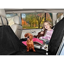 FurHaven Pet Car Seat Cover | Hammock-style, Universal Car Seat or Cargo Area Cover to Protect Vehicle from Dog Hair & Claws, Black
