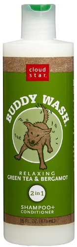 Cloud Star Buddy Wash Green Tea & Bergamot 2-in-1 Dog Shampoo + Conditioner 16 Oz