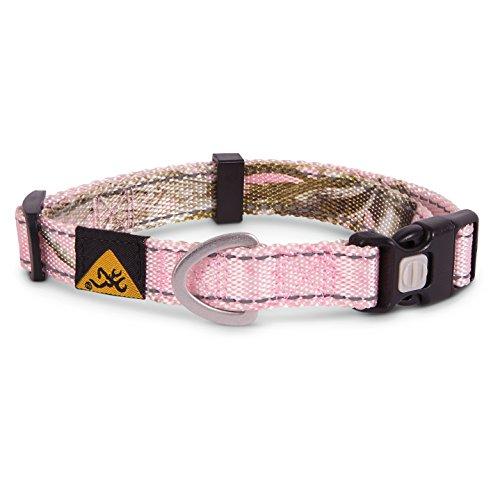 Browning Classic Dog Collar Camo Dog Collar, Classic Hunting Dog, Xtra Pink, Large