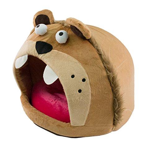 PET LIFE 'Roar Bear' Snuggle Plush Polar Fleece Fashion Designer Pet Dog Bed House Lounge, One Size, Light Brown