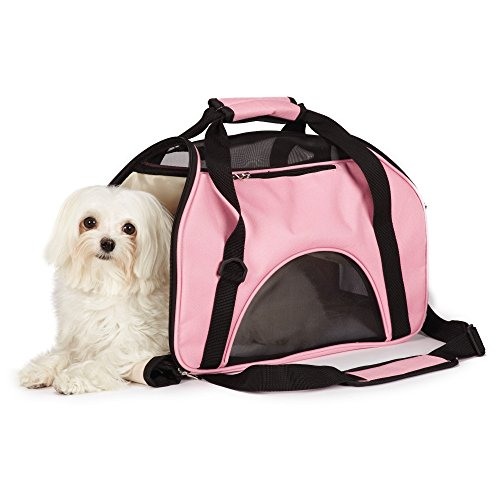 East Side Collection On-the-Go Pet Carriers — Practical and Fashionable Carriers for Small Dogs and Cats, Pink