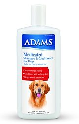 Adams Medicated Shampoo & Conditioner for Dogs, 12oz
