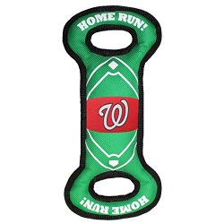Pets First NAT-3030 MLB Washington Nationals Baseball Field Tough Dog Toy, MLB Team Color