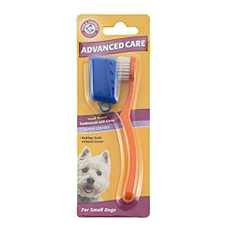 Arm & Hammer Advanced Care Toothbrush and Cover for Small Dogs | Best Toothbrush with Cover for Small Breeds