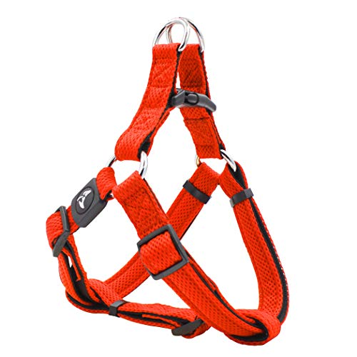 KRUZ PET KZA201-08L Fully Adjustable Step-in Puffy Mesh Harness, Large