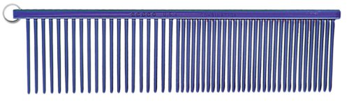 Resco Professional Anti-Static Best Dog, Cat, Pet Grooming Comb, Medium/Coarse Tooth Spacing, 1.5-Inch Pins, Candy Blue