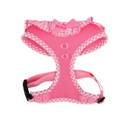 Authentic Puppia Vivien Harness, Pink, Small