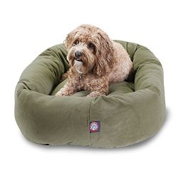 32 inch Sage Suede Bagel Dog Bed By Majestic Pet Products