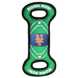 Pets First MET-3030 MLB New York Mets Baseball Field Tough Dog Toy, MLB Team Color