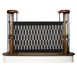 The Stair Barrier Baby and Pet Gate – Banister-to-Banister – Retractable Fabric Safety Gate Wide and Regular Sizes – Made in the USA  – Onyx