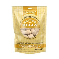 Better Belly Chicken Liver Rawhide Mini Dog Bones, 26-Count