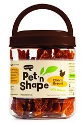 Pet 'N Shape – Chik 'N Breast – 100-Percent Natural Chicken Jerky Dog Treats, 1-Pound