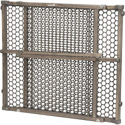 Safety 1st Vintage Wood Baby Gate with Pressure Mount Fastening (Gray)