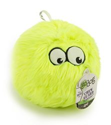 goDog Furballz Tough Plush Dog Toy with Chew Guard Technology, Lime, Large