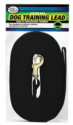 Four Paws Black 30 Foot Cotton Web Dog  Leash
