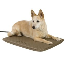 K&H Pet Products Lectro-Soft Outdoor Heated Pet Bed Medium Tan 19″ x 24″ 40W